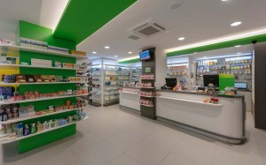 Kalyva Pharmacy interior design