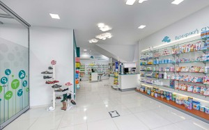 Φαρμακείο Ρασσιά σχεδιασμός-εσωτερικό φαρμακείου