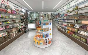 Φαρμακείο Ζερβός σχεδιασμός-εσωτερικό φαρμακείου